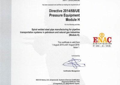 Directive 2014/68/UE - Pressure Equipment
