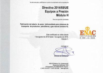 Directiva 2014/68/UE - Equipos a presión