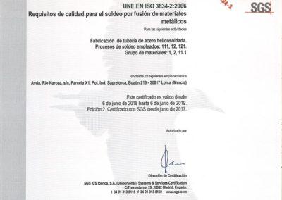 26. UNE EN ISO 3834-2