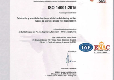Certificación ISO 14001 Noksel España