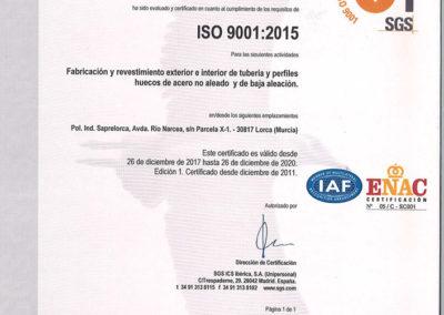 Certificación ISO 9001 Noksel España